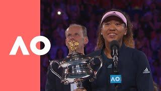 Naomi Osaka championship-winning speech (F) | Australian Open 2019