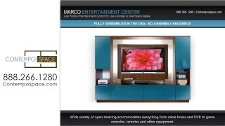 Marco Low Profile Entertainment Center For Low Ceilings Or Overhead Display | Item #: 4155