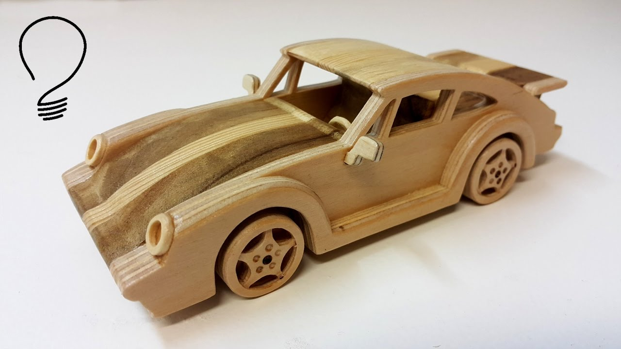 Wooden Porsche 911 Turbo - YouTube