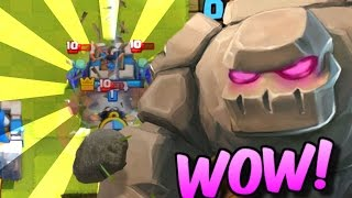 GOLEM IS THE BEST! - Beatdown Golem Deck  LIVE in a Grand Challenge - Clash Royale