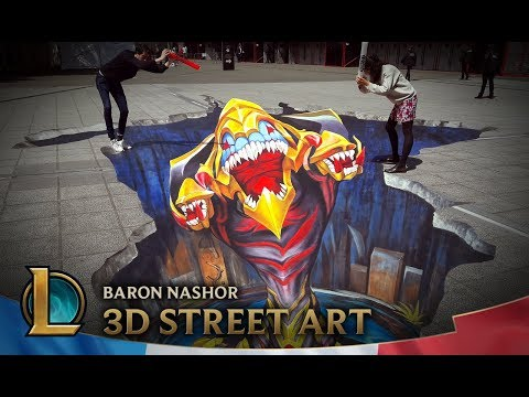 MSI PARIS 2018 | 3D street art Baron Nashor | League of Legends