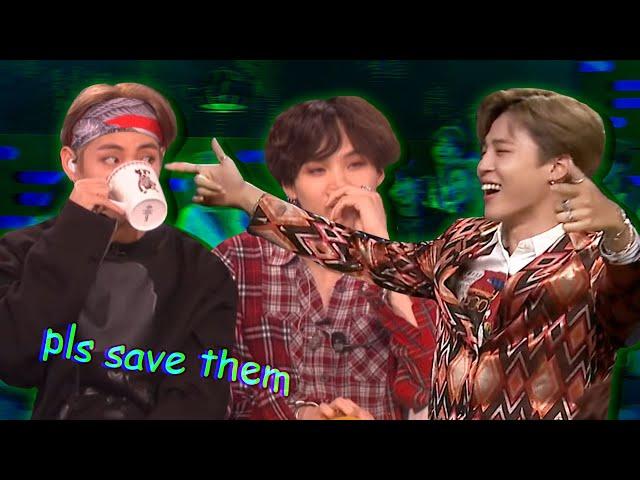 BTS being BTS on talk shows