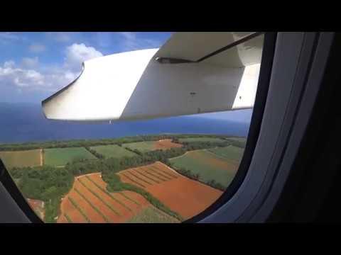 日本最短定期航空路 南大東島~北大東島 DHC8-Q400CC