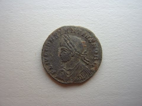 Metal Detecting Germany Nr.13 Beautiful Roman Coin!!