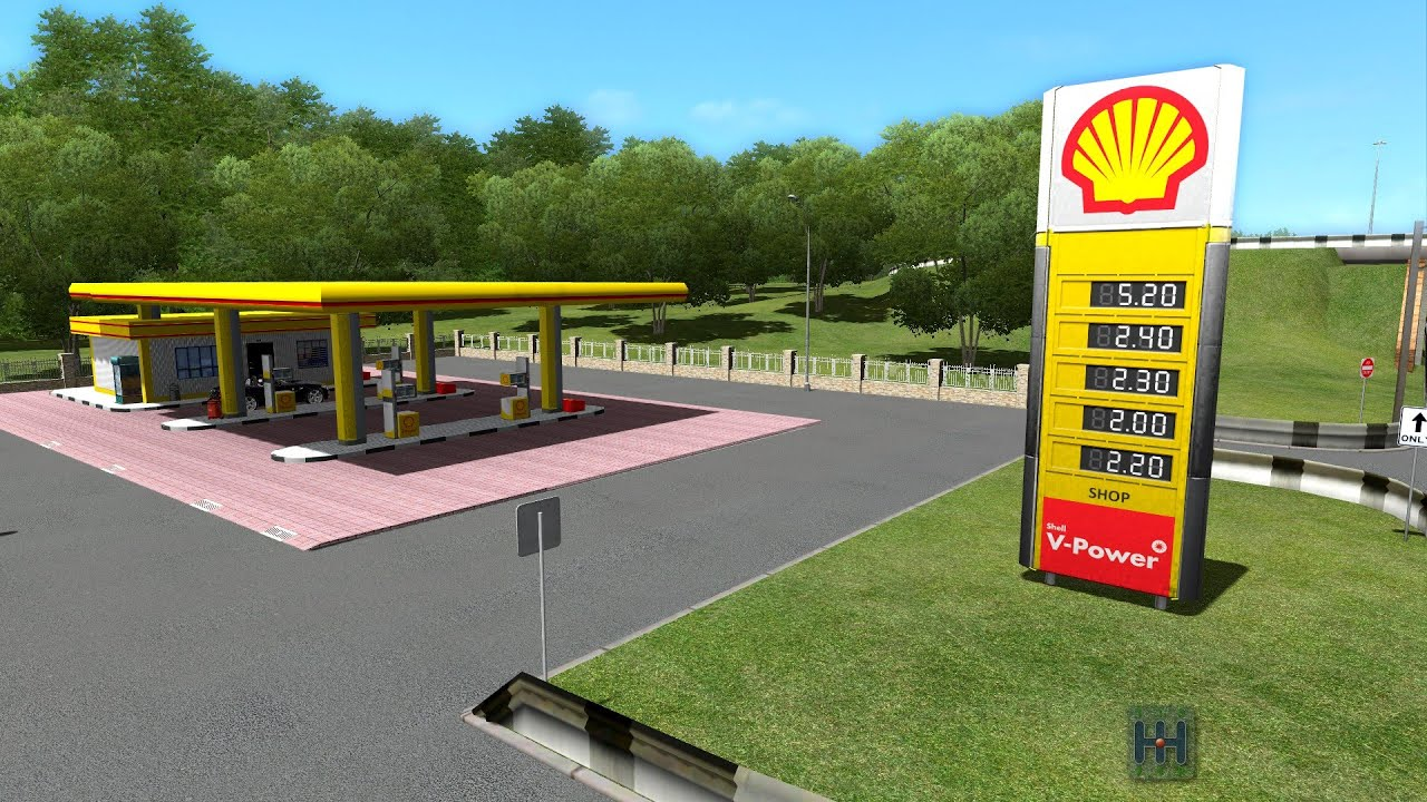 Car Driving Simulator Stop For Gas