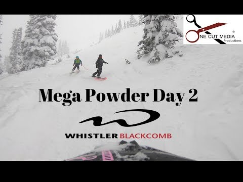 54cm Mega Powder Day #2 @ WhistlerBlackcomb 2017/2018 season,  powder snow canada