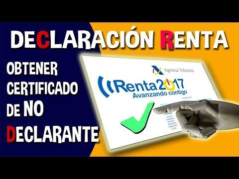 Cómo obtener el certificado de no declarante del IRPF. Declaración de la Renta.
