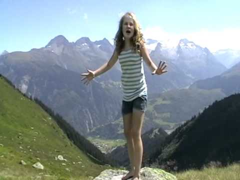 Laura van den Elzen - The Climb - 12 years - during holiday Swiss mountains -