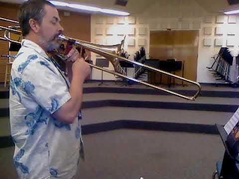 Arban Multiple tongue Exercise No  2 Oct 5 2012 Roger E  Anderson Bass  Trombone