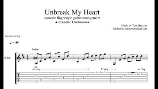 Toni braxton - unbreak my heart fingerstyle tab in guitar pro this follows the acoustic cover played by alexander chekmarev standard t...