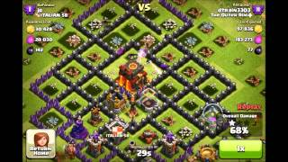 Clash of Clans - NEW Max Hog Rider Attack on a High Level TH10 Base