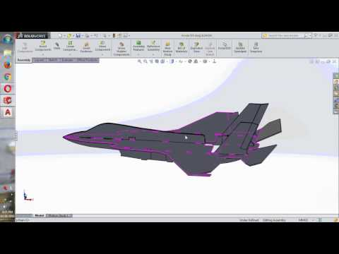 F35 assembly by SolidWorks (Lắp ráp F35 bằg SolidWorks)