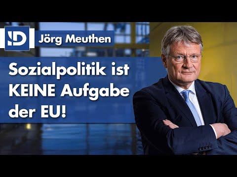 Jörg Meuthen | Sozialpolitik ist KEINE Aufgabe der EU!