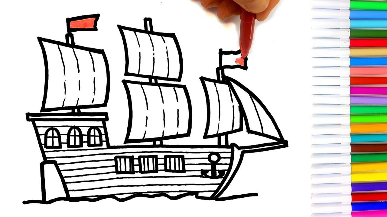 Disegnare Nave Pirati Divertente Video Disegno Youtube