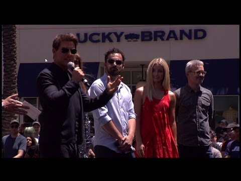 The LA Hollywood & Highland Gateway Mummy day event (Tom Cruise, Sofia Boutella...)