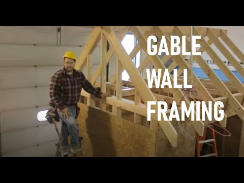 Roof Framing Part 5 Gable End Wall Framing Youtube