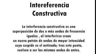 Interferencia Constructiva y Destructiva