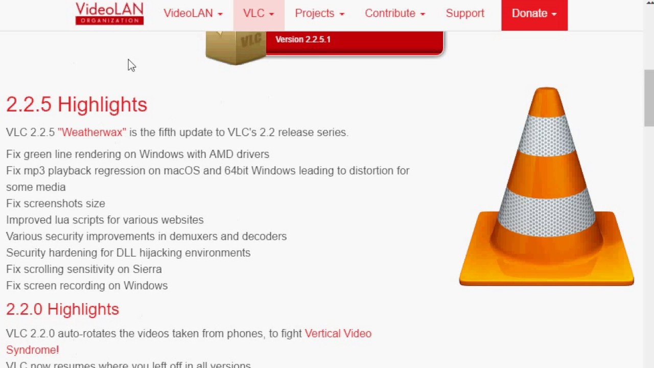 Vlc Media Player 2 2 5 1 Released Youtube