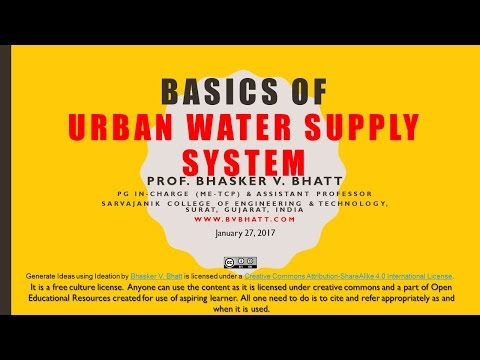 BVB Lecture on Water Supply System Planning (Open Educational Resource)