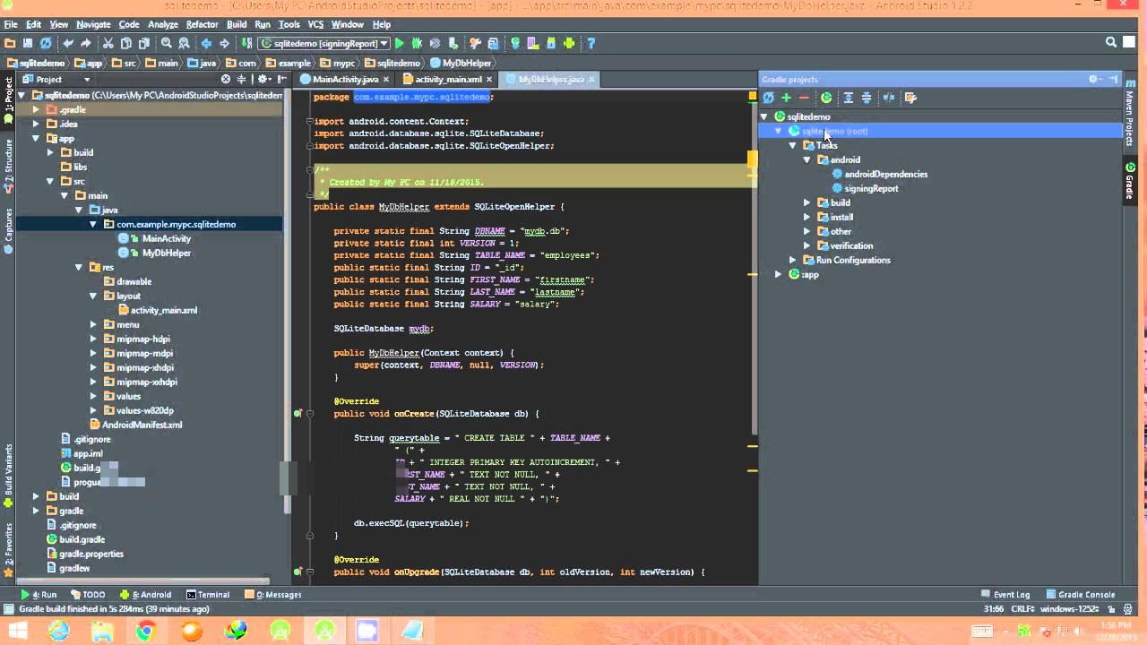 Generate SHA1 fingerprint in AndroidStudio