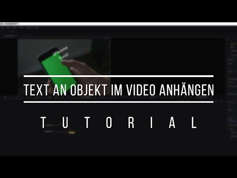 Text an Objekt in Bild anhängen // Tracking in Fusion 8