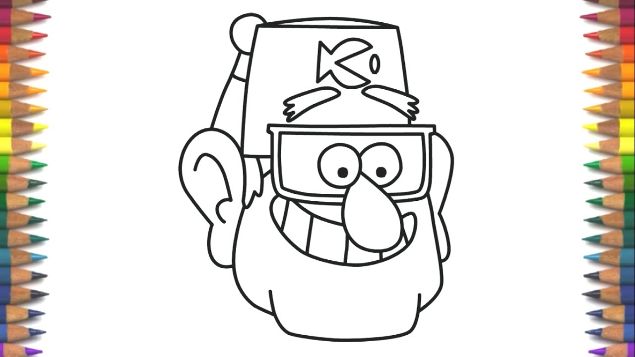 Como Dibujar A Tío Stan Gravity Falls: How To Draw Stan Pines Gravity Falls Characters Face