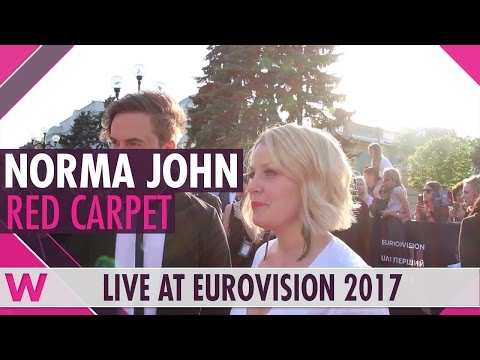 Norma John (Finland) interview @ Eurovision 2017 red carpet
