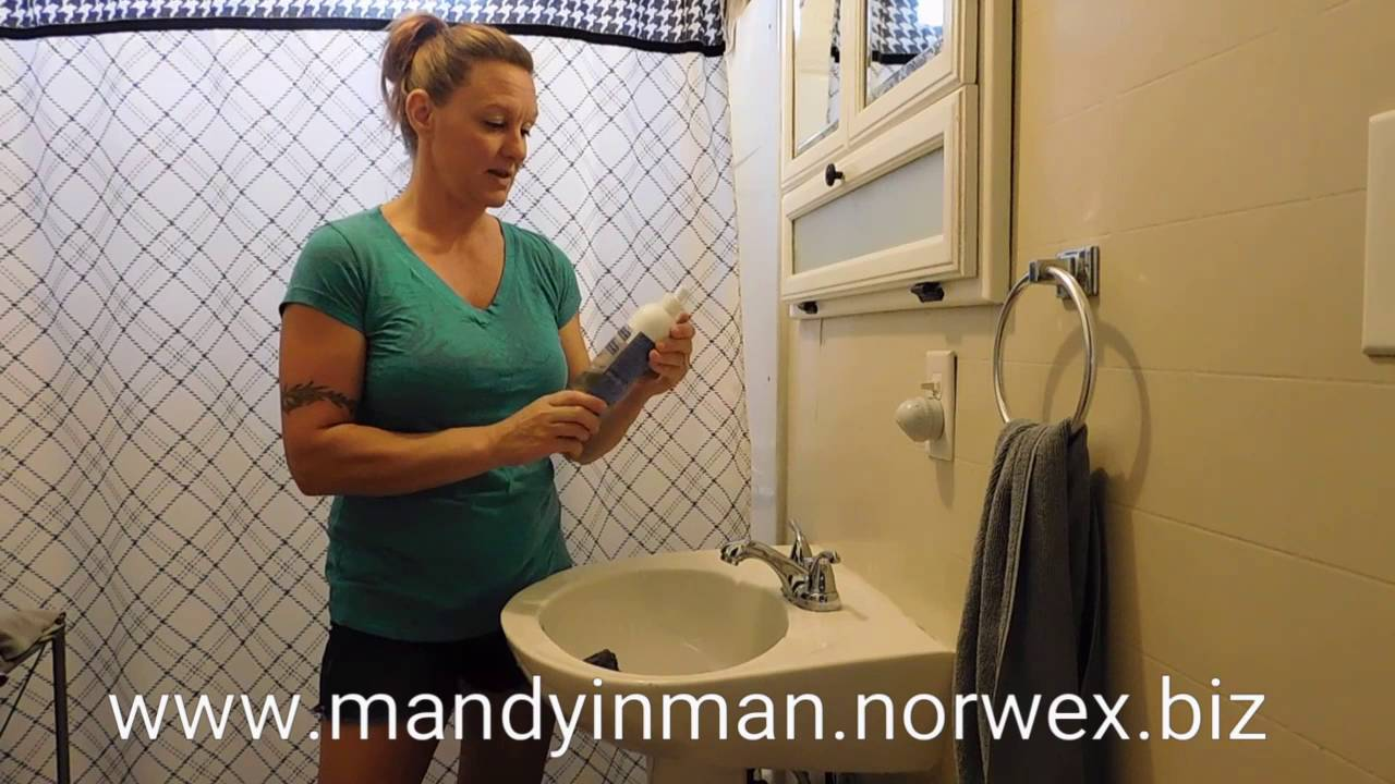 All purpose bathroom cleaner - Norwex Bathroom Scrub Mitt And Blue Diamond All Purpose Bathroom Cleaner