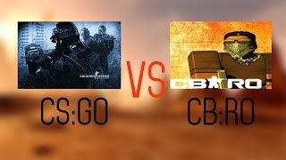 Counter Strike Global Offensive vs Counter Blox Roblox Offensive