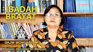GKJW WONOSALAM | Pangibadah Brayat | Pelayan : Dkn. Hari Sri Wahyuni