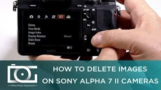 SONY a7 II TUTORIAL | How To Delete Images on Sony Alpha 7 II Cameras