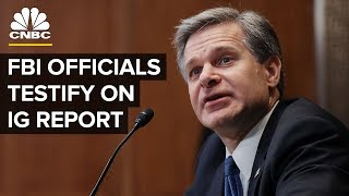 LIVE: FBI Officials Testify Before Senate on Inspector General Report — June 18, 2018