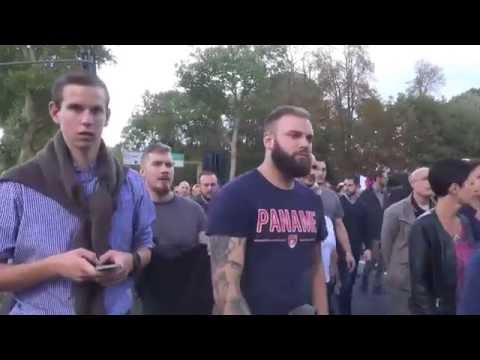 Manifestation contre le futur centre d'accueil des migrants. Louveciennes/France - 02 Octobre 2016