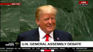 Donald Trump addresses the 73rd #UNGA