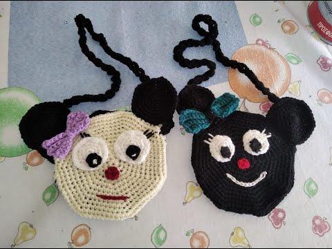 πλεκτή παιδική τσάντα Μίνι με  βελονάκι μέρος 2.knitted children's bag  part 2.irene crochet