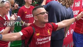 Turkey: Liverpool fans paint Istanbul red ahead of Super Cup final