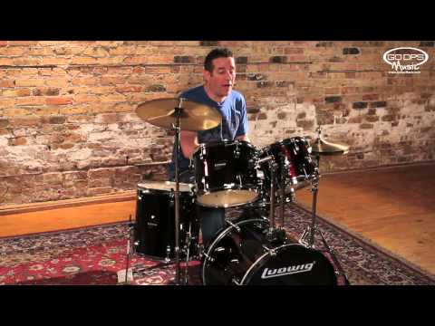 Ludwig Accent Beginner Drum Kit Set Up