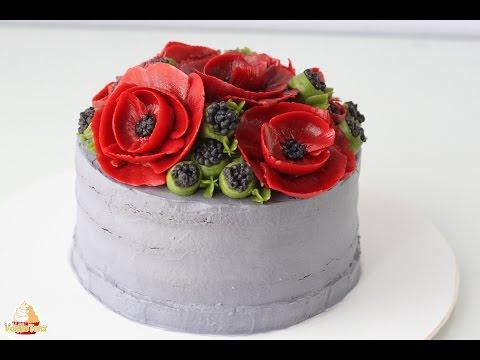 Рецепт Torte mit Mohnblumen zum Valentinstag oder Muttertag без регистрации