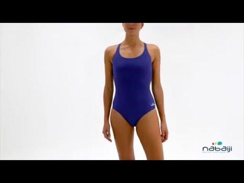 Leony Natación Nabaiji Youtube Bañador Mujer Azul De Para BrdxoCeW