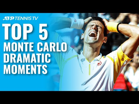 Top 5 Dramatic Tennis Moments from Monte Carlo 😱