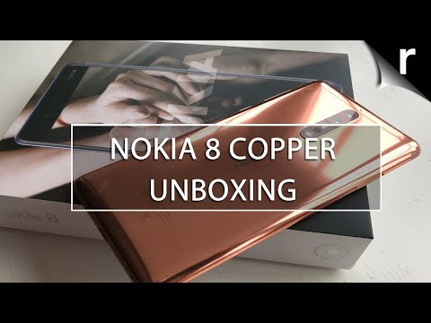 Nokia 8 Unboxing: Polished copper for the win