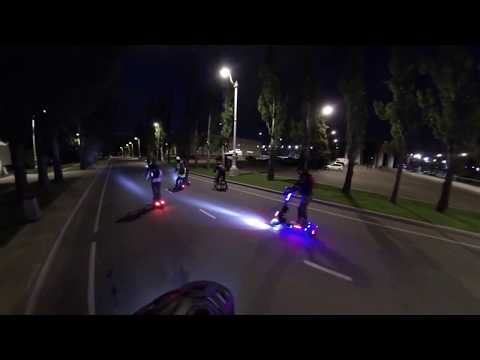 MSK Electric Scooter, покатушки на электросамокате по Москве, падение на электросамокате.