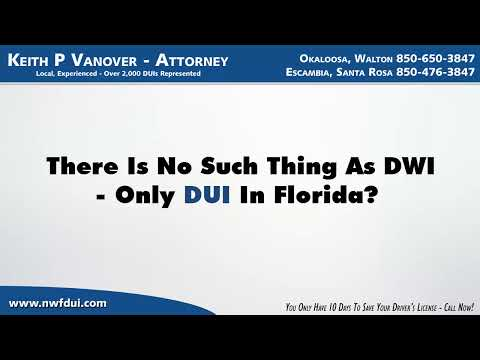 What Is The Difference Between A DWI and A DUI in Destin Florida?
