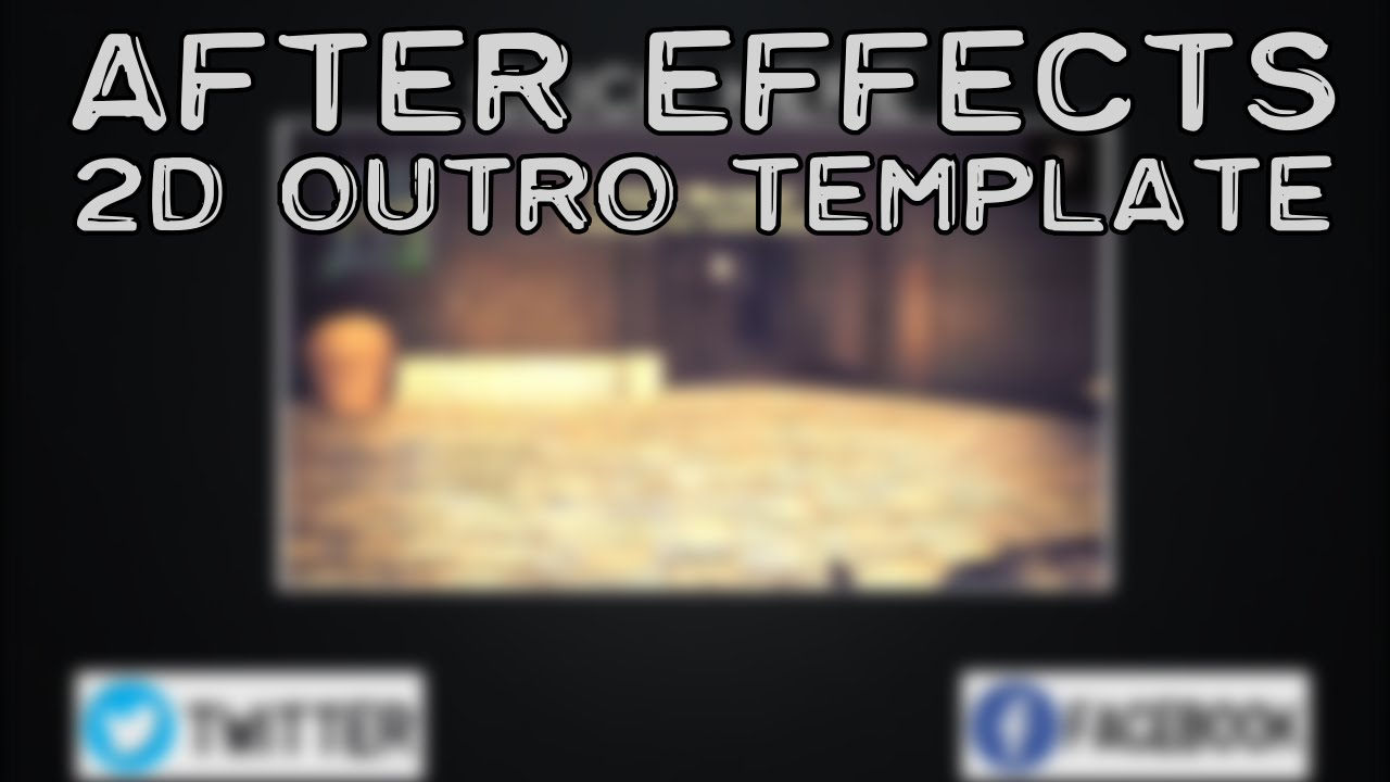 after effect motion graphics templates - after effects outro template 2d motion graphics youtube