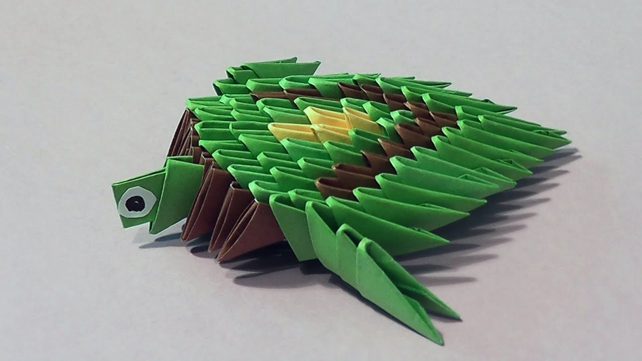 How to make a turtle 3D origami (modular origami) for ... - photo#10