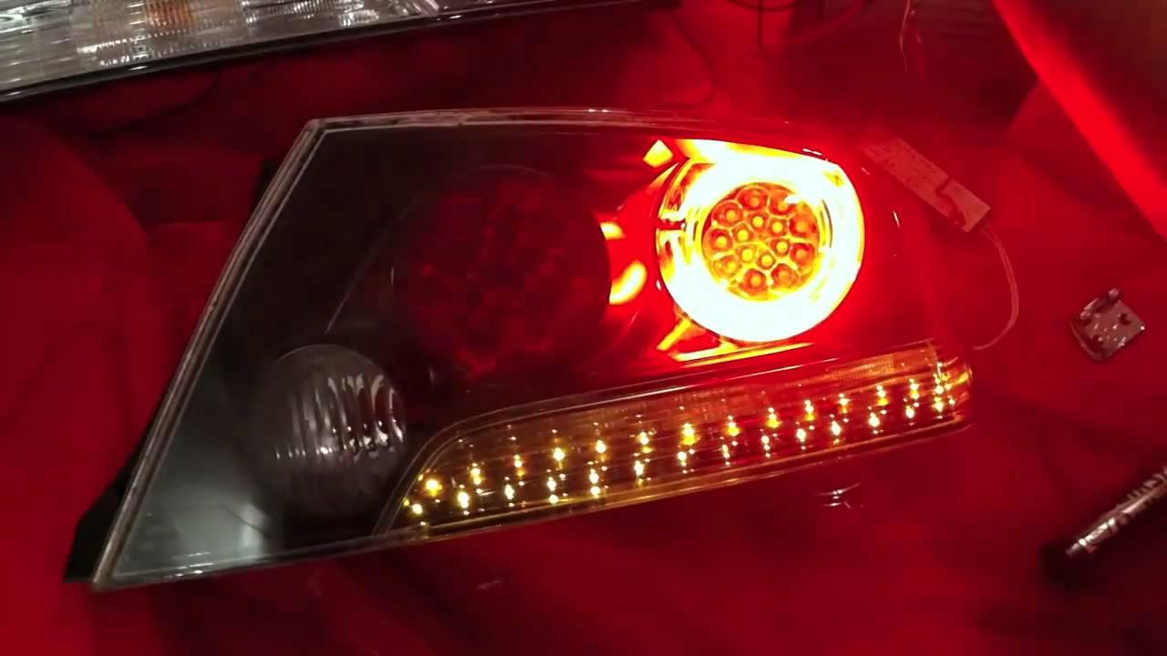 Car Tail Lights >> Evo 9 led tail lights - YouTube