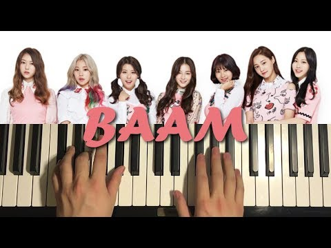 HOW TO PLAY - BAAM - by MOMOLAND (모모랜드)(PIANO TUTORIAL LESSON)