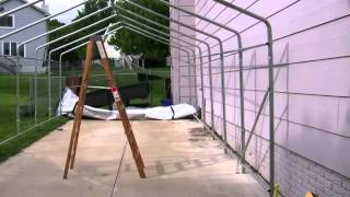 Customer Video - Rhino Shelter 12x24 Extended Garage Assembly