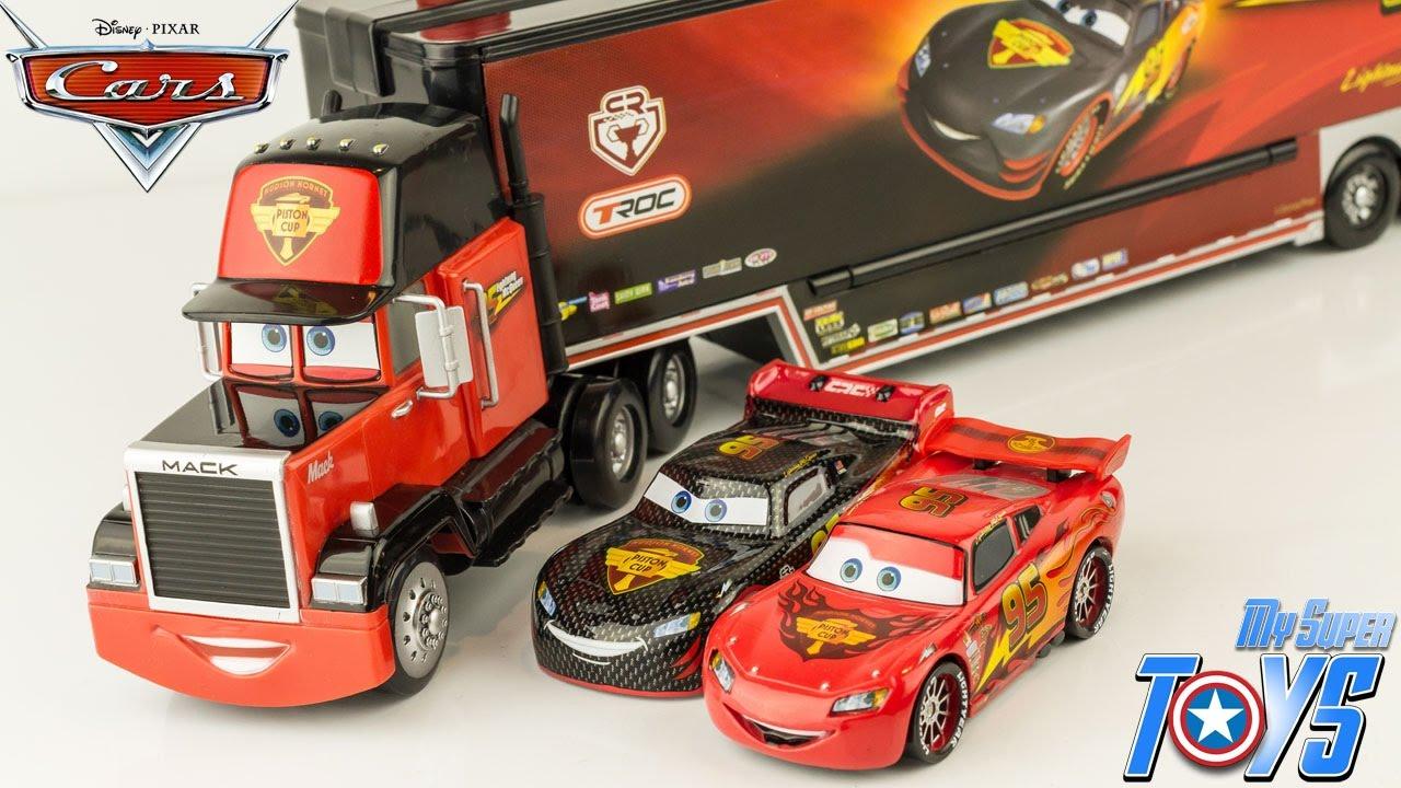 Disney cars mack truck carbon racers launcher lightning - Flash mcqueen et mack ...