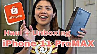 Gambar cover Unboxing Iphone 11ProMax + Shopee Haul 2019